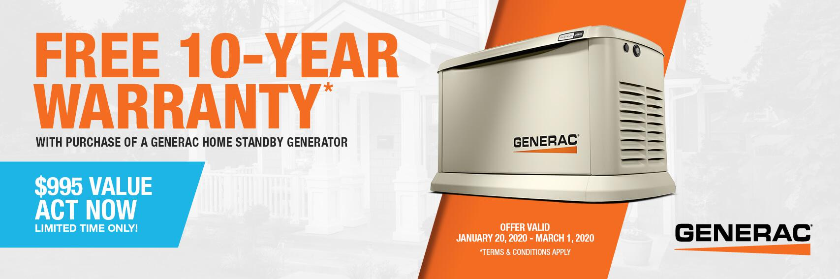 Homestandby Generator Deal | Warranty Offer | Generac Dealer | Lakewood, NJ
